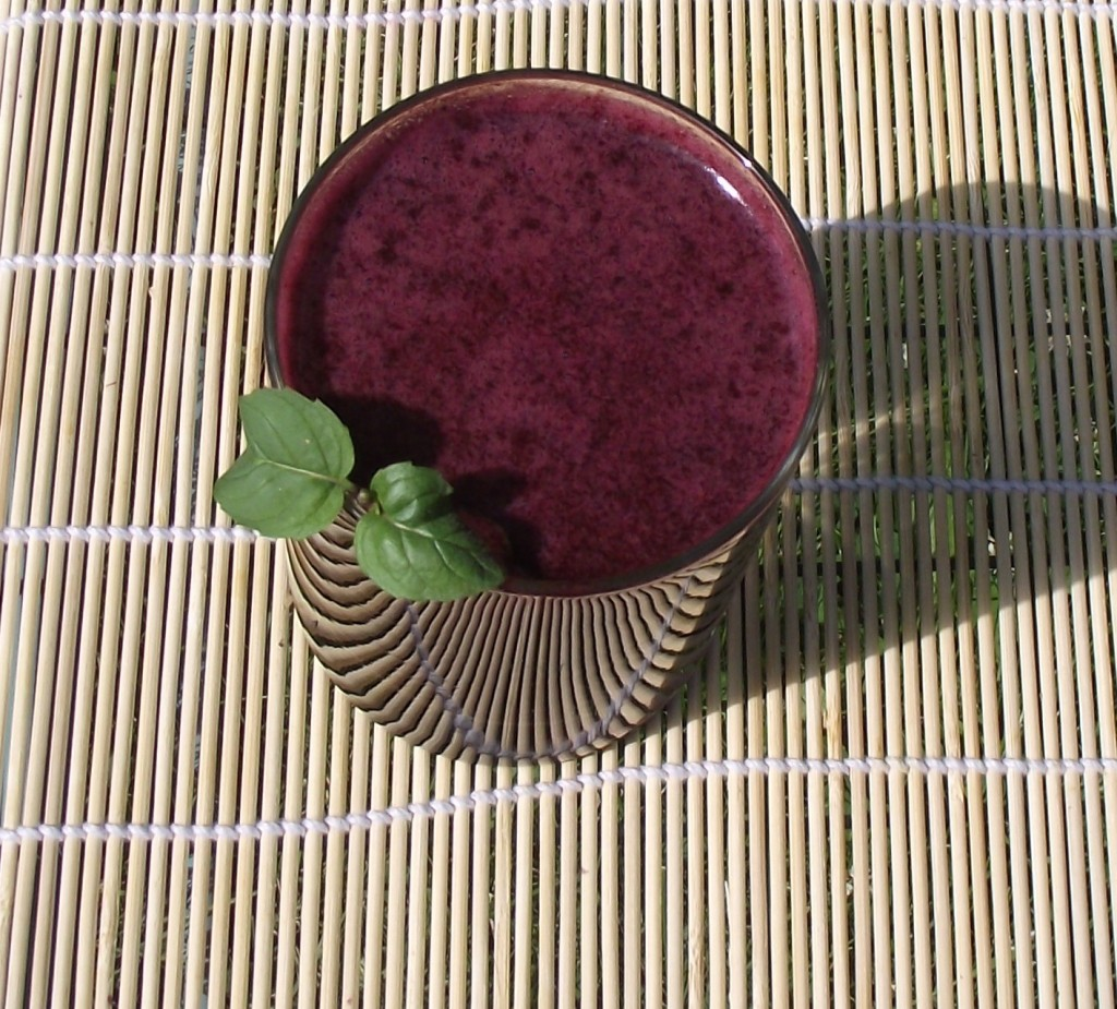 Fresh Raw Blueberry Juice with Mint Leaf, Benefits of Blueberries, How To Make Blueberry Juice